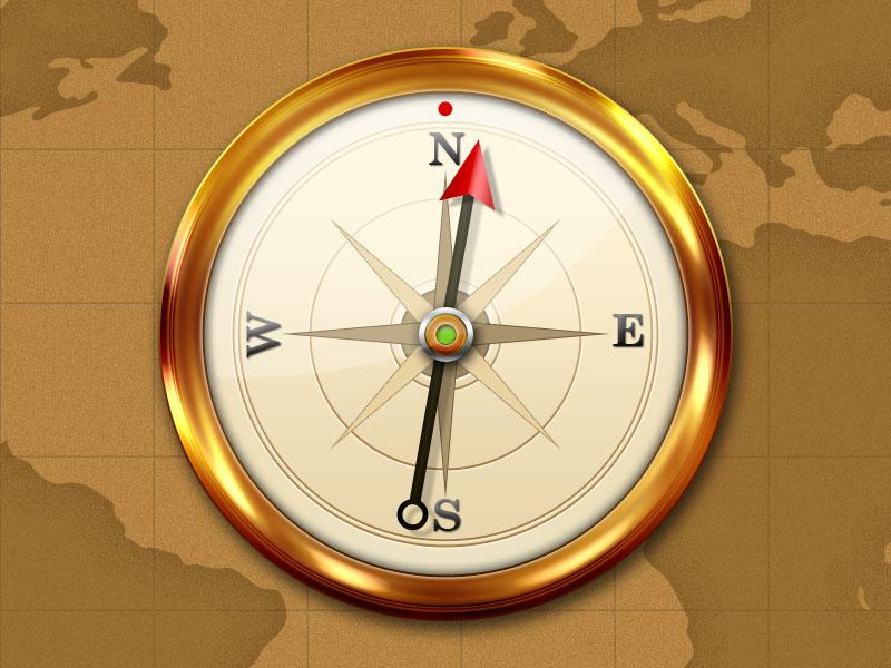 Как сделать компас в фотошопе