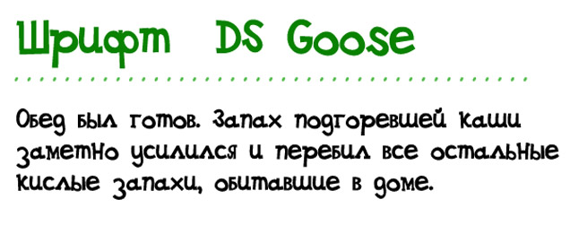 Шрифт DS Goose